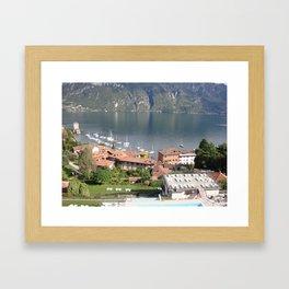 Lake Como Vista 2 Framed Art Print