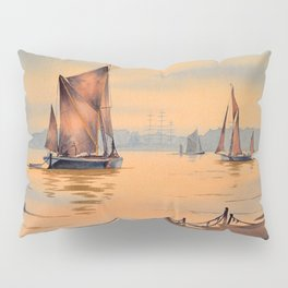 Thames Barges At Greenwich London Pillow Sham