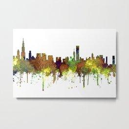 Chicago, Illinois Skyline SG Safari Buff Metal Print