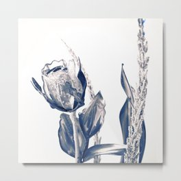Glass rose Metal Print
