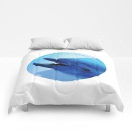 Keep the Ocean Blue_Dolphin Comforters
