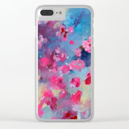 Cherry Blossom Weather Clear iPhone Case