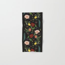 Botanical and Black Dachshund Hand & Bath Towel
