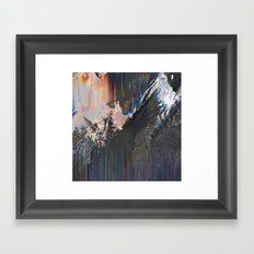 Glitched Landscape 1 Framed Art Print