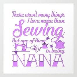 Sewing Nana Art Print