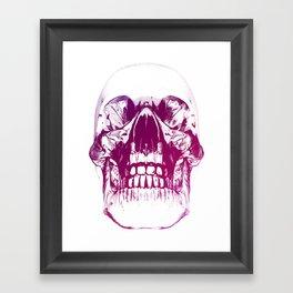 purple crystal skull Framed Art Print