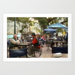 Hanging out in San Telmo, Buenos Aires Art Print