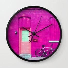 fuchsia house Wall Clock