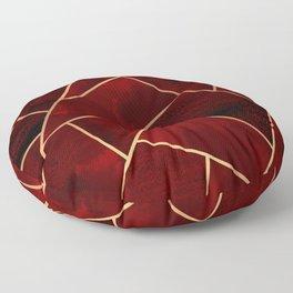 Red & Gold Geo Floor Pillow