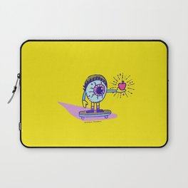 Apple of my Eye Idiom with Yellow Background Laptop Sleeve