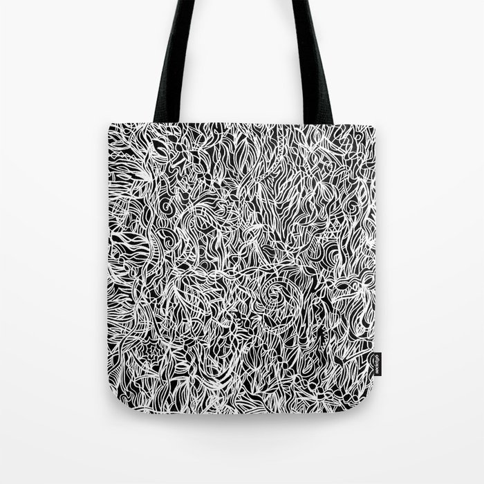 White and Black Tote Bag