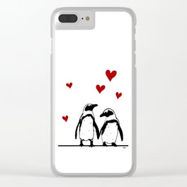 Love Penguins Clear iPhone Case