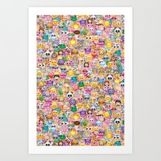 emoji / emoticons Art Print