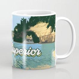 Lake Superior Retro Coffee Mug