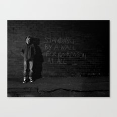 standing by a wall Canvas Print