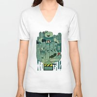 ghostbusters V-neck T-shirts featuring Ghostbusters by Ale Giorgini
