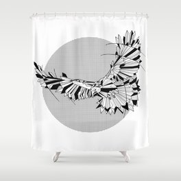 Hawk Geomentric Shower Curtain