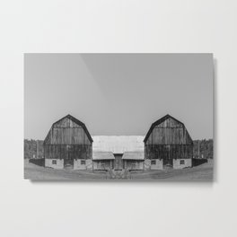 Reflected Farmhouse Metal Print