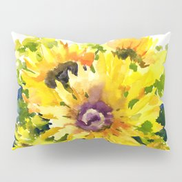 Colors of Summer, Sunflowers, Country style french country design Pillow Sham