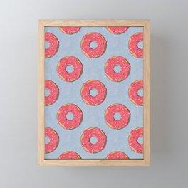 FAST FOOD / Donut - pattern Framed Mini Art Print