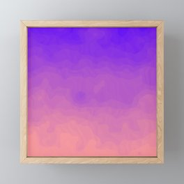 Pink and Purple Ombre - Swirly - Flipped Framed Mini Art Print