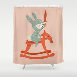 Rabbit Knight Shower Curtain