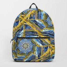 golden day kaleidoscope pattern Backpack