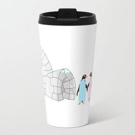 Penguins and Igloo Travel Mug