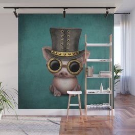Steampunk Baby Pig Wall Mural