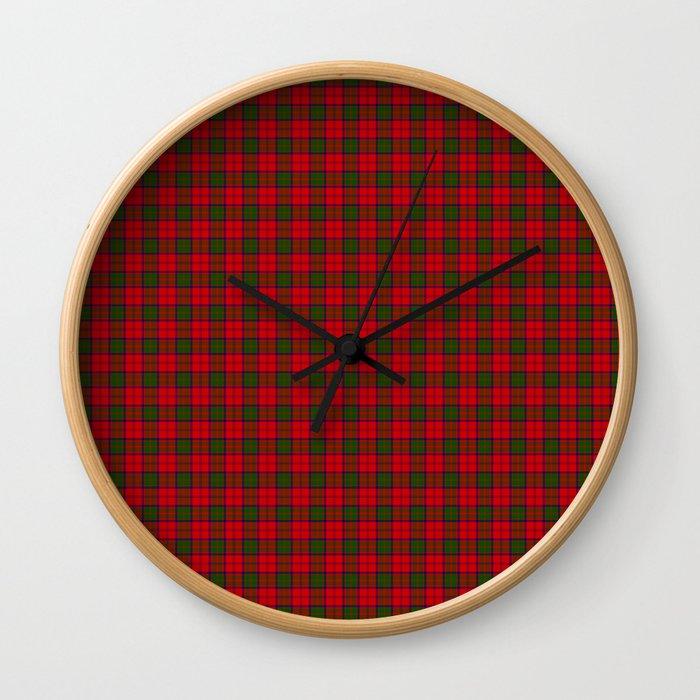 Grant Tartan Wall Clock