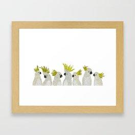 Cockatoos by Veronique de Jong Framed Art Print