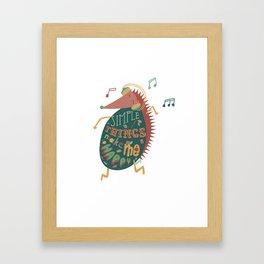 Simple Things Make Me Happy Framed Art Print