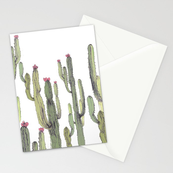 cactus in nature Stationery Cards