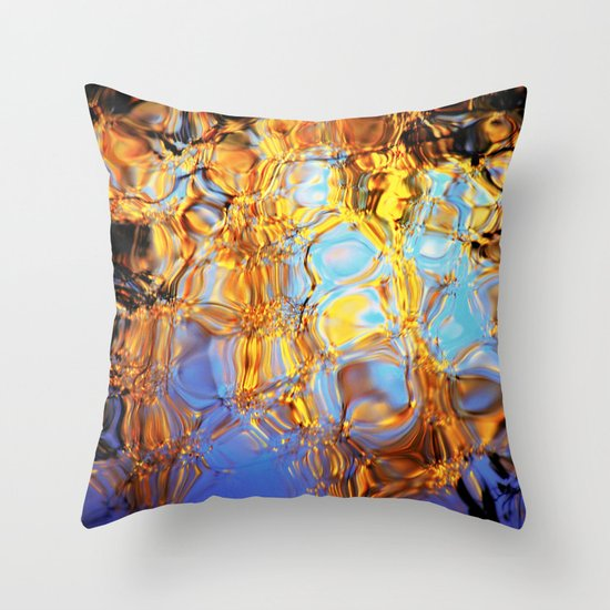 golden reflection Throw Pillow