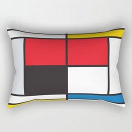 Tennis Court Mondrian Rectangular Pillow
