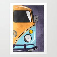 car Art Prints featuring car  by mark ashkenazi