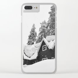 Boulders of Snow Clear iPhone Case