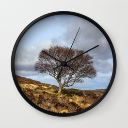 Hillside tree Wall Clock