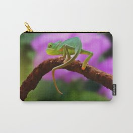 Floral Baby Chameleon Carry-All Pouch