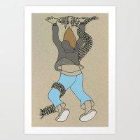 atlas Art Prints featuring Atlas by Madmi