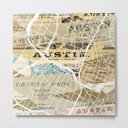 Austin map Metal Print