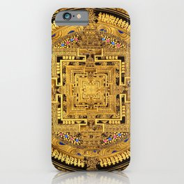 Buddhist Mandala Gold Temple 40 iPhone Case
