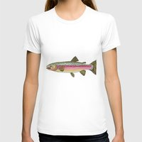 trout T-shirts featuring Rainbow Trout by Karissa Breuer Art