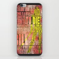 kill bill iPhone & iPod Skins featuring Kill Bill redux by Purple Cactus