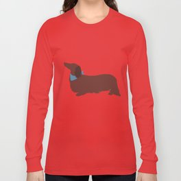 Long haired Dachshund Long Sleeve T-shirt