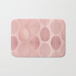 Rose Gold Leaf Pattern Bath Mat