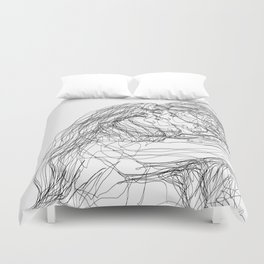 make-out? (B & W) Duvet Cover
