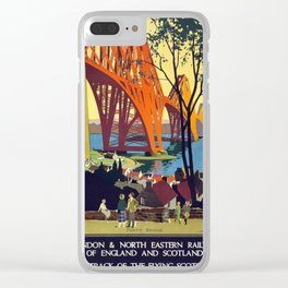 Vintage poster - Forth Bridge Clear iPhone Case