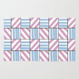 symetric tartan and gingham 6 -vichy, gingham,strip,square,geometric, sober,tartan Rug