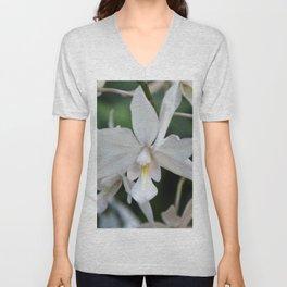 White orchid Unisex V-Neck